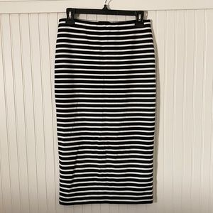LIKE NEW Sanctuary Fitted Striped Midi Skirt (S)